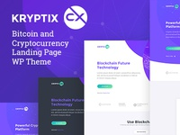 Kryptix - Bitcoin & Cryptocurrency Landing Page Theme