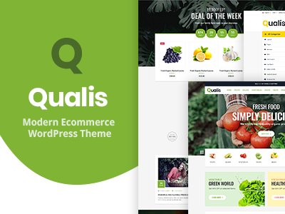Qualis - Organic Food Responsive eCommerce WordPress Theme