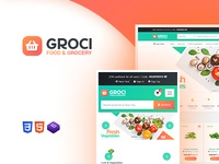 Grocery Market Website Template WordPress - Groci