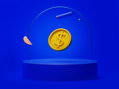 Money money app money management art composition comp blue cash coin money