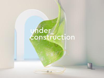 Under Construction art conceptual concept 3d art 3d