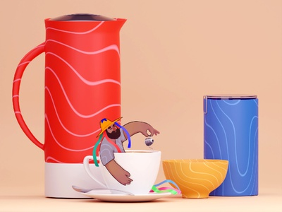 Coffee characterdesign coffee nature 2d illustration