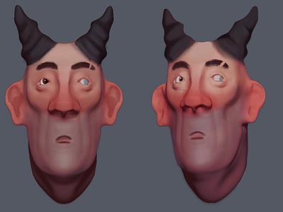 Devil Butler model 3d zbrush design character butler devil