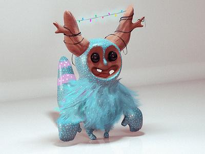 Tree Little Monster character designs monster tree concept 3d zbrush character design