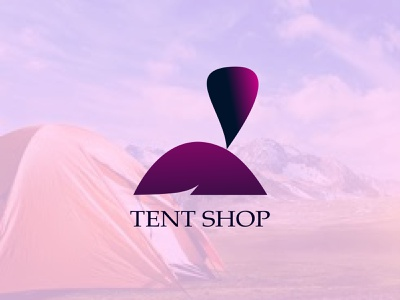 TENT SHOP brand identity gradient logo logo design idea