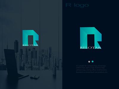 R LOGO real estate logo logo mark logos illustration creative logo brand identity logo designer gradient logo graphic designer modern logo branding r monogram