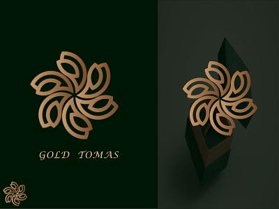 GOLD TOMAS premium logo symbol creative logo illustration gradient logo brand identity logo designer graphic designer logos modern logo
