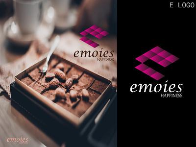 emoies logo brand chocolate logo e logo symbol creative logo logo mark logo designer gradient logo brand identity graphic designer logos branding modern logo