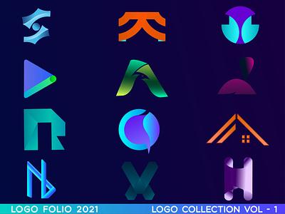 LOGO FOLIO VOL - 1 creative symbol vector graphic designer logo creative logo brand identity logos branding modern logo