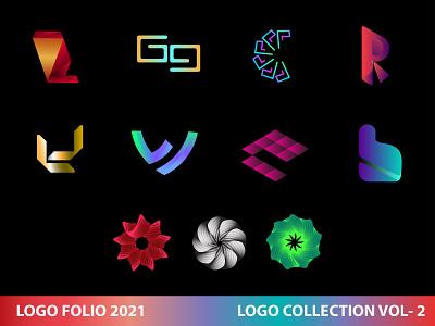 LOGO FOLIO V  2 logo folio 2021 logofolio logotype logo mark logo design brand creative creative logo gradient logo brand identity logos branding modern logo