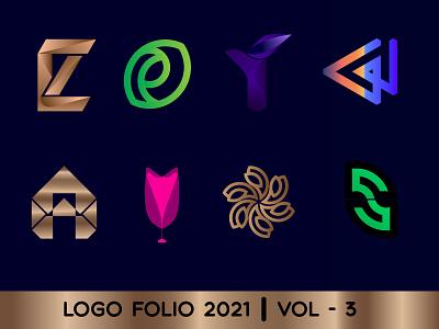 LOGO FOLIO 2021 VOL -  3 logo folio 2021 logotype symbol creative logo logo mark logo designer gradient logo brand identity graphic designer logos branding modern logo