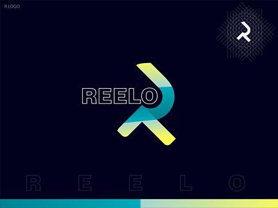 R LOGO ( REELO ) logo tiop logo r logo brand symbol creative logo logo mark gradient logo brand identity graphic designer logos branding modern logo