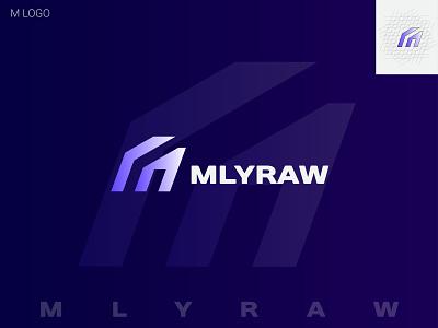 M LOGO ( MLYRAW ) modern unique logo creative logos m logo logo design trends 2021 symbol creative logo logo mark logo designer gradient logo brand identity logos branding modern logo