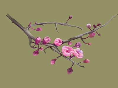 Flor cerezo flower hyperrealism wacom intuos photoshop nature art art digital painting artwork digitalart artist