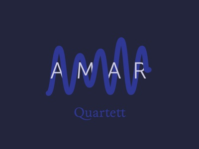 Amar Quartett dos soundwaves typography logo illustration cello violin amar quartet string music classical