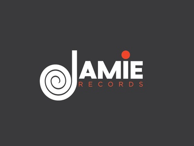 '67 Jamie Records Logo graphic design brand character clean art identity illustrator lettering type icon typography vector minimal logo illustration design flat branding