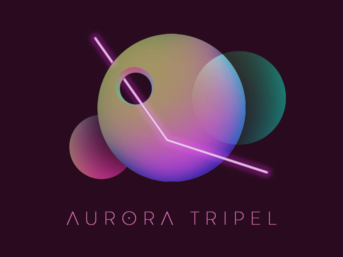 Aurora Tripel Label can design beer branding identity typography minimal logo illustration branding beer brand graphic design design
