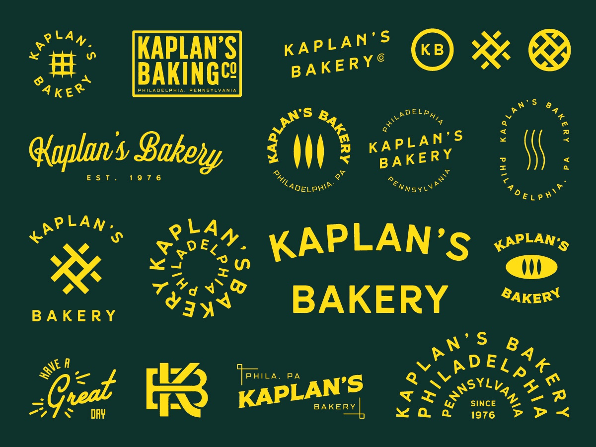 Kaplan's Bakery character icon type label design minimal photoshop lettering label clean logo adobe photoshop illustrator illustration identity flat typography branding brand graphic design design
