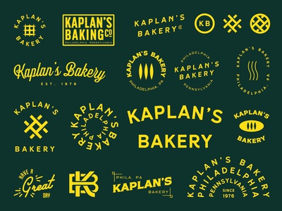 Kaplan's Bakery character icon type label design minimal photoshop lettering label clean logo adobe photoshop illustrator illustration identity flat typography branding brand graphic design design