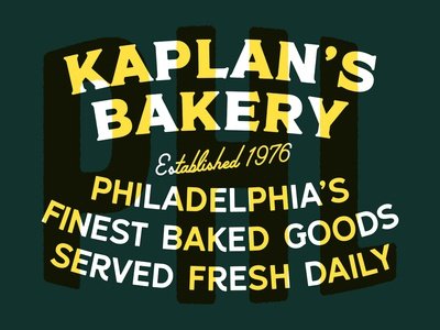 Kaplan's Bakery icon type lettering label design label clean character illustrator illustration identity adobe photoshop typography minimal logo branding brand design graphic design