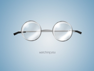 Watching You icon glasses metal glass