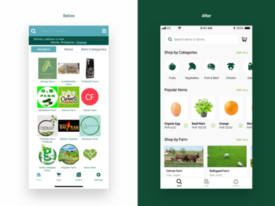 Session Groceries - Homepage Redesign redesign ux uiux ui