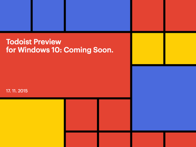 Todoist Preview for Windows 10: Coming soon windows10 todoist productivity