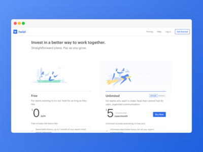 Twist Pricing Page teamwork communication productivity todoist doist twist