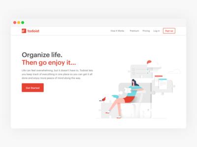 New Marketing Pages for Todoist to-dolist doist twist todoist productivity