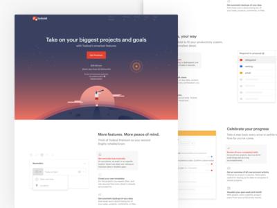 Premium Page Design twist doist productivity todoist