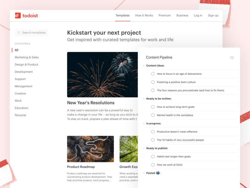 Todoist Template Page project real live app icon todoist task management todo ui productivity