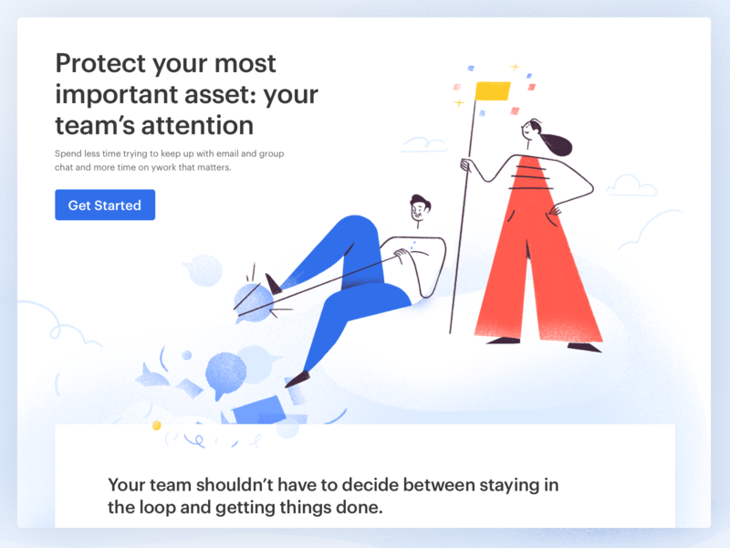 Twist New Landing Page app live project real work ux twist team remote windows web android ios interaction doist ui communication