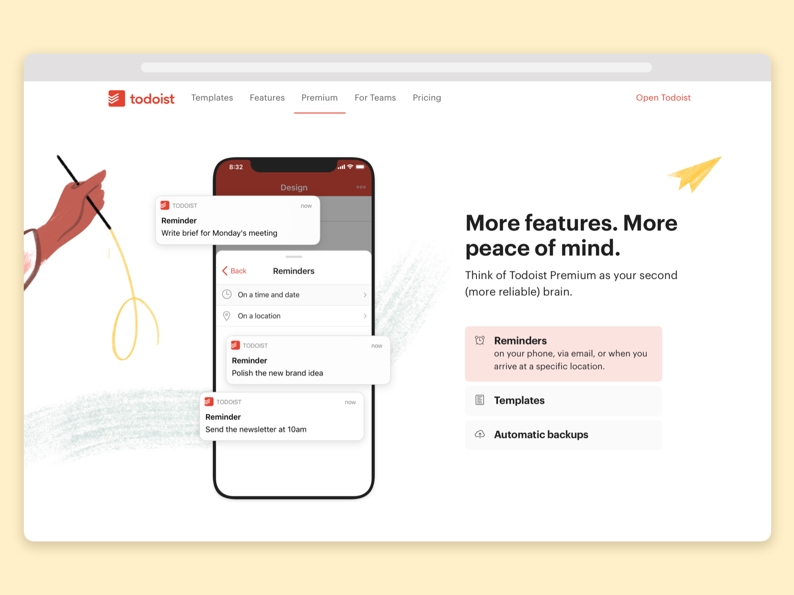 Todoist Foundations Landingpage Premium Details By Wallace Chao For Doist On Dribbble