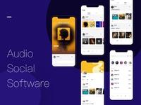 Audio social app more interface