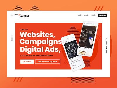 Dark Mode - Personal Portfolio slider revolution portfolio web designs dark mode web design