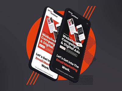 Dark Mode - Mobile Portfolio animation mobile web design portfolio design dark mode