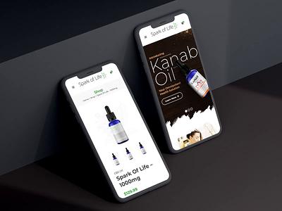Spark Of Life – Mobile Ecommerce UI uidesign ui wordpress woocommerce ecommerce web design web design