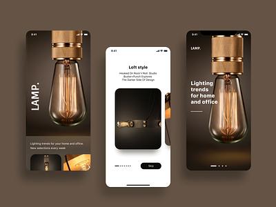 I came back! 🥳 Daily UI trend light loft ios app design dailyui onboarding color dribbble design ios mobile app ui