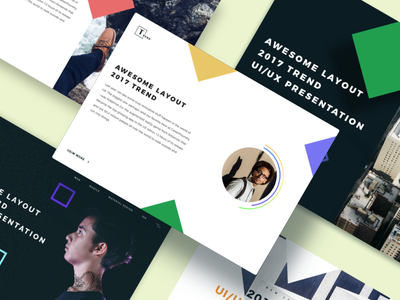 UI Trend Cards 2017 presentation avatars clean ux web layout trend cards ui