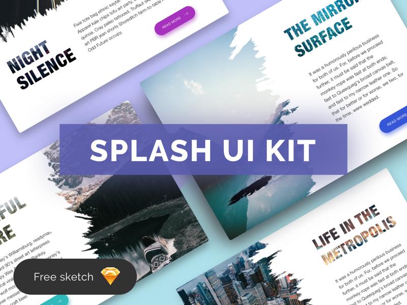 Splash Ui Kit ui kit color gradient splash freebie ui web cards sketch free