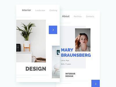 Design & designers profile ios ux ui app mobile