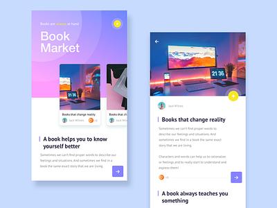 Book Market article gradient shop ios iphone books market ux ui mobile