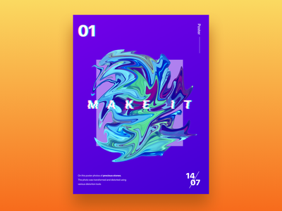 Poster #Transformation 1 transformation bright dribbble juicy graphic poster