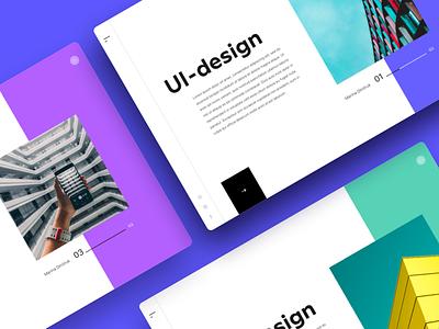 WEB–UI site inspiration color dribbble shot ux ui landing web