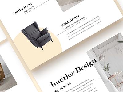 Interior_Web design 🛋 site inspiration color dribbble shot interior flat ux ui landing web
