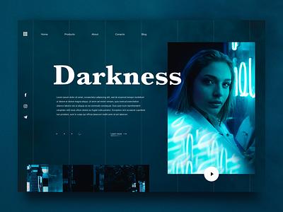 Darkness 🌚 social darkness landing desktop design web ui