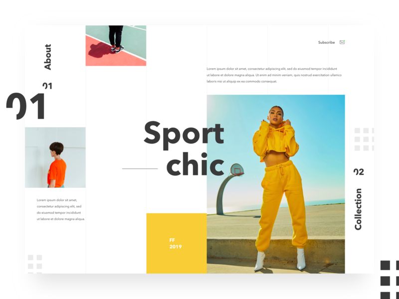 Sport Chic fashion typography clean sport web ui
