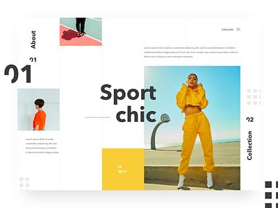 Sport Chic fashion typography clean sport web ui