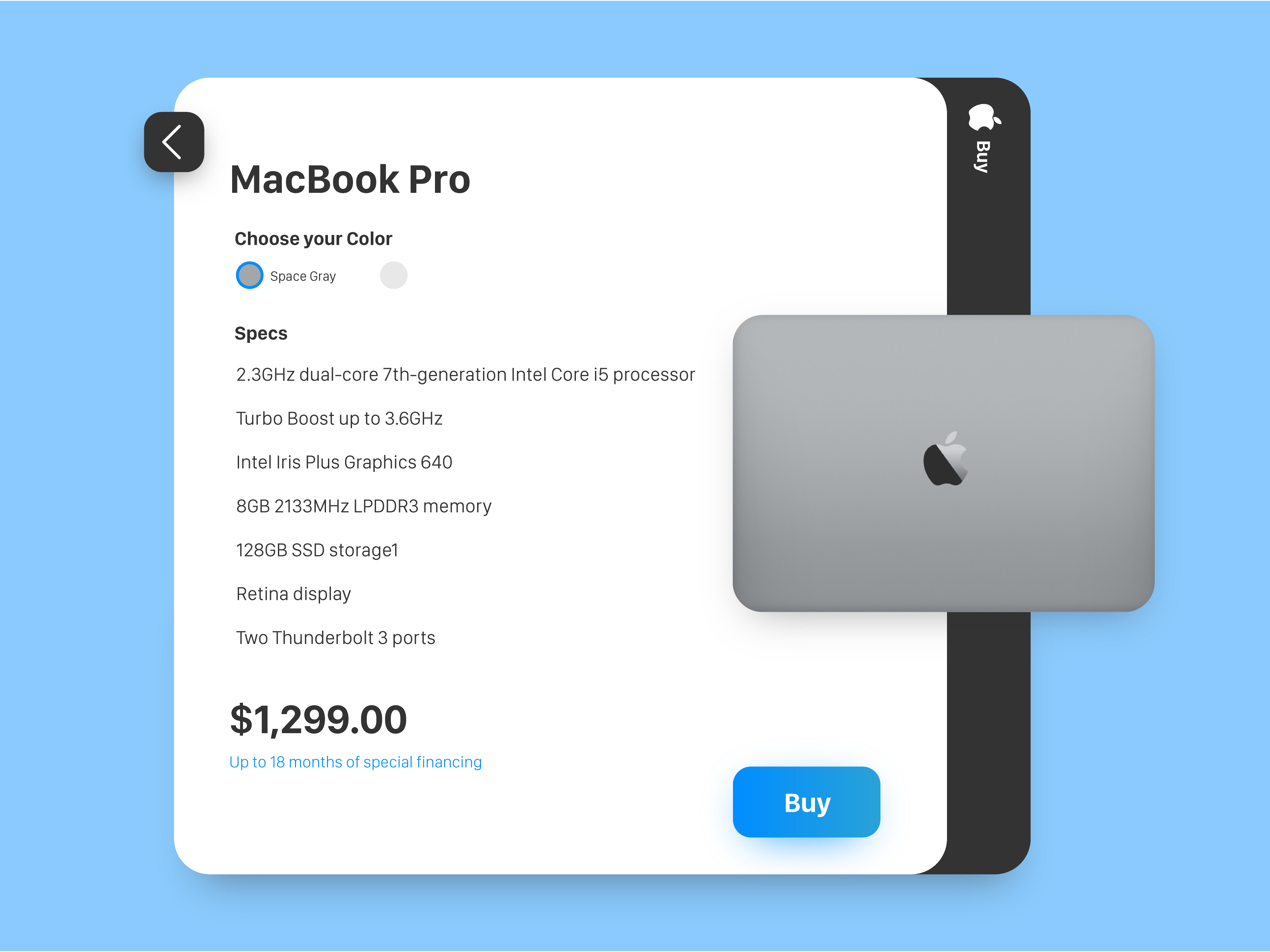 Product Card - Redesign from 2015 version