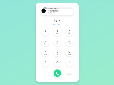 Dial Pad- Redesign from 2015 version